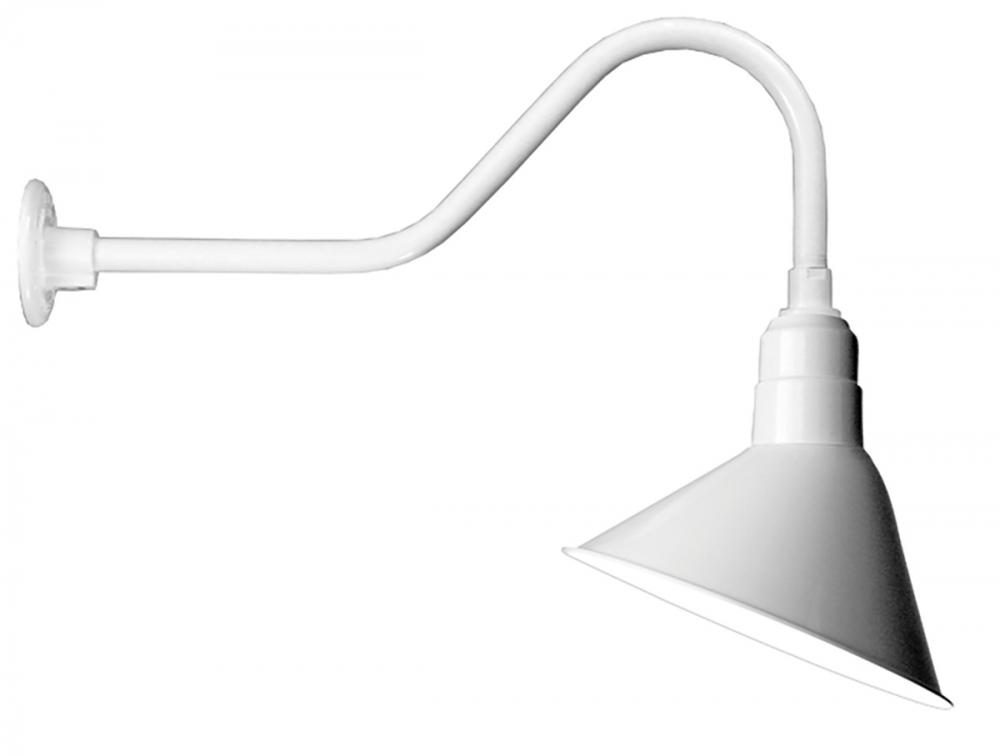 12 angle shade and gooseneck arm in white with medium base socket 12 angle shade and gooseneck arm in white with medium base socket aloadofball Choice Image
