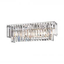 ELK Lighting 15212/3 - Palacial 3-Light Vanity Sconce in Polished Chrome with Clear Crystal