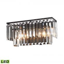ELK Lighting 15221/2-LED - Palacial 2-Light Vanity Sconce in Oil Rubbed Bronze with Clear Crystal - Includes LED Bulbs